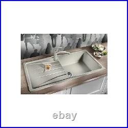 Single Bowl Anthracite Composite Kitchen Sink with Reversible Drainer Blanco S