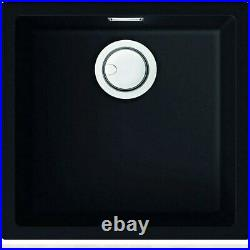 Single Bowl Black Granite Kitchen Sink Reginox Multa