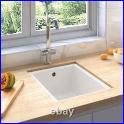 Single Bowl Granite Kitchen Sink Basin Waste Kit Undermount Basket Strainer Unit