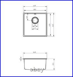 Single Bowl Inset Kitchen Sink (White Granite Composite)