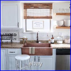 Single Bowl Kitchen Sink Antique Copper Farmhouse Apron Front Pure Heat Resistan