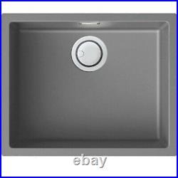 Single Bowl Light Grey Granite Kitchen Sink Reginox Multa