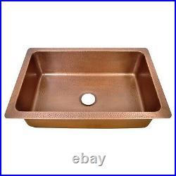 Single Bowl Petal Front Apron Copper Kitchen Sink Belfast Farmhouse Butler Style