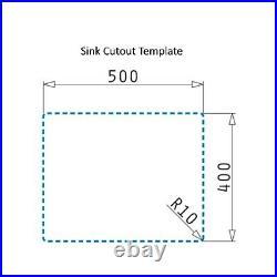Single Bowl Undermount Black Granite Composite Kitchen Sink Enza Madison