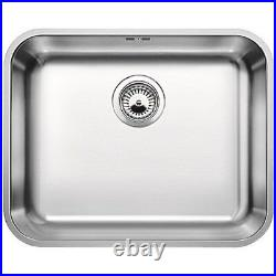 Single Bowl Undermount Chrome Stainless Steel Kitchen Sink Blanco Supra 500-U