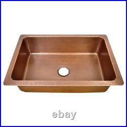 Single Bowl Vine Front Apron Copper Kitchen Sink Belfast Farmhouse Butler Style