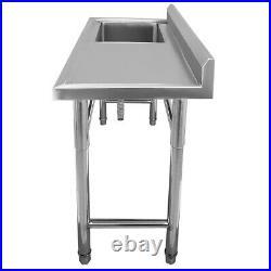 Single Deep Bowl Kitchen Sink Commercial Shop Wash Table with Hand Platform EU