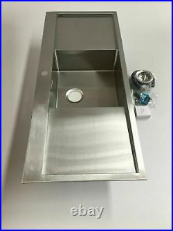 Single bowl double drainer NEW design kitchen sink & waste stainless steel