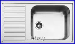 Smeg Alba LG861-S2 1.0 Single Bowl Left Hand Drainer Inset Stainless Steel Sink