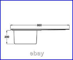 Smeg Mira 1.0 Single Bowl Sink Stainless Steel LD861-2
