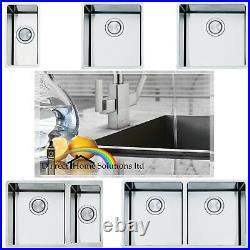 Smeg Mira Stainless Steel Undermount 1.0 / 2.0 / 0.75 Bowl Square Kitchen Sink