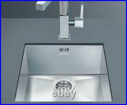 Smeg Quadra 1.0 Single Bowl Undermount Sink Stainless Steel VSTQ40-2