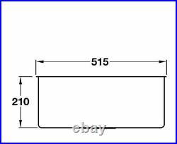 Smeg Quadra 1.0 Single Bowl Undermount Sink Stainless Steel VSTQ50-2