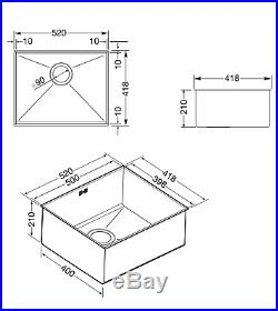 Smeg Quadra VSTQ50-2 1.0 Single Bowl Stainless Steel Undermount Sink Brand New