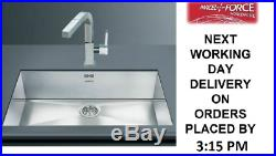 Smeg Quadra VSTQ72-2 Large 1.0 Single Bowl Stainless Steel Undermount Sink NEW