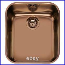 Smeg UM45RA2 Undermount Copper Single Bowl Kitchen Sink & Waste Ex-display NEW
