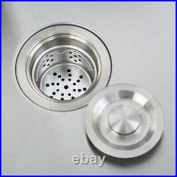 Square Single Bowl Stainless Steel Kitchen Sink Top Under Mount 51 x 45 x 22cm