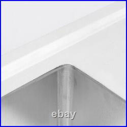 Stainless Steel Kitchen Sink Food Prep Table Single Bowl Commercial Catering Use