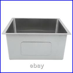 Stainless Steel Kitchen Sink Single Bowl Basin Catering Undermount 44x44x21cm