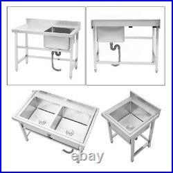 Stainless Steel Sink Platform Catering Basin Drainer for Bar Kitchen Restaurant