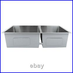 Stainless Steel Undermount Kitchen Sink Commercial Catering Single Double Bowl