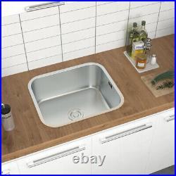 Stainless Steel Undermount Kitchen Sink Single Double Bowl & Drainer Waste Kit