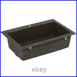 Swans QZ03322SB. 170 Drop-In. Undermount 1-Hole 33 in Single-Bowl Kitchen Sink