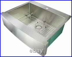 Transolid Farmhouse/Apron-Front Stainless Steel 30 in Single Bowl Kitchen Sink