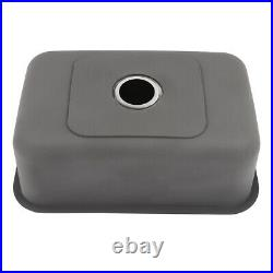 Undercounter Single Bowl Stainless Steel Kitchen Sink for Home Restaurant Silver