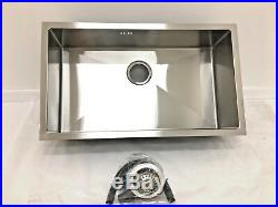 Undermount Kitchen Sink Large Single Bowl, 750x440x200mm, Square Corners