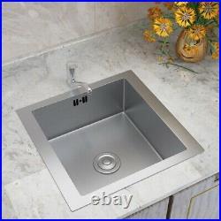 Undermount Kitchen Stainless Steel Sink Single/Twin/1.5 Bowl Drainer Waste Kits
