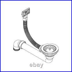 VidaXL Granite Kitchen Sink Single Basin Oval Overmount Strainer Black/Grey
