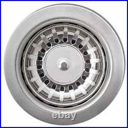 VidaXL Granite Kitchen Sink Single Basin Overmount Basket Strainer Black/Grey