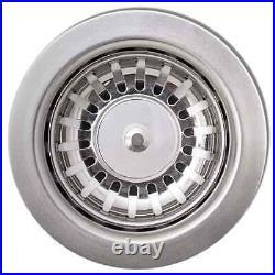 VidaXL Granite Kitchen Sink Single Basin White Basket Strainer Wash Bowl Basin