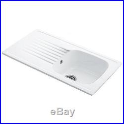 Villeroy & Boch Targa 50 1.0 Bowl White Ceramic Kitchen Sink NO WASTE
